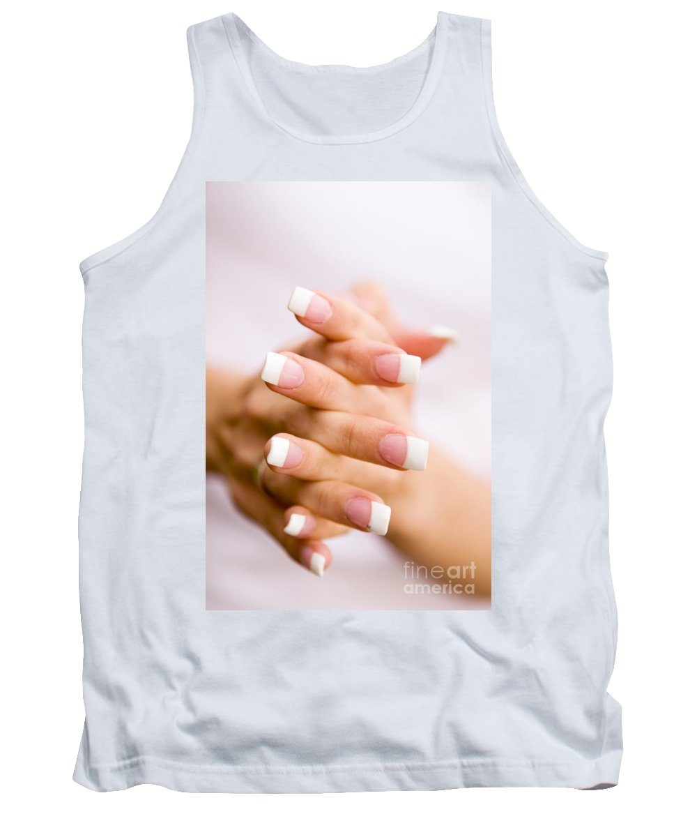 Woman Tank Top featuring the photograph Beautiful Nails by Kati Finell