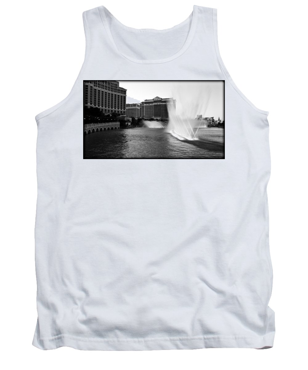 America Tank Top featuring the photograph Bellagio Fountains II by Ricky Barnard