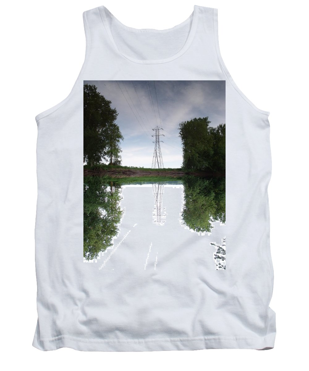 Tower Tank Top featuring the photograph Black River Dadville Ny by Dennis Comins
