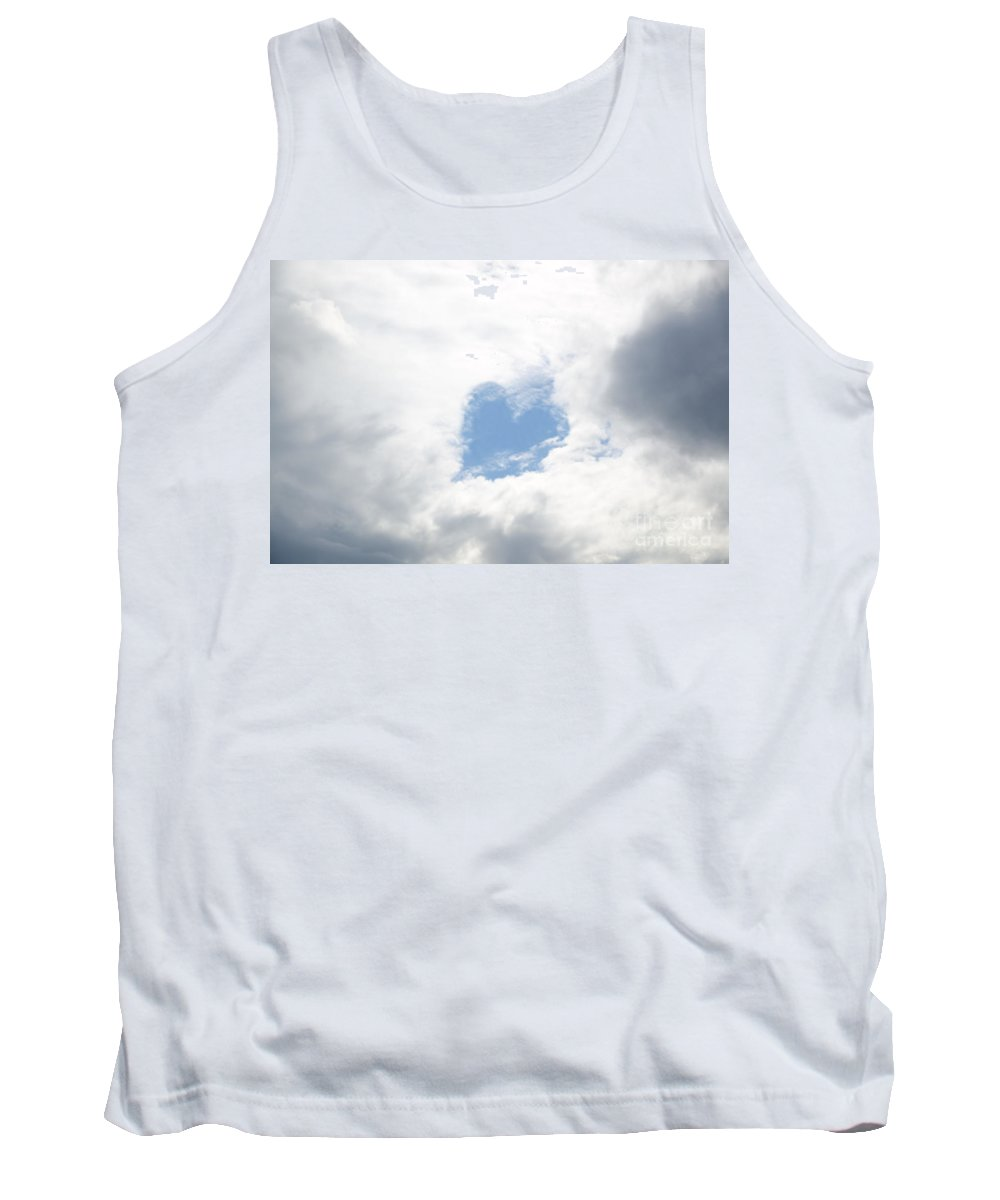 Heart Tank Top featuring the photograph Blue Heart In Sky by Mats Silvan
