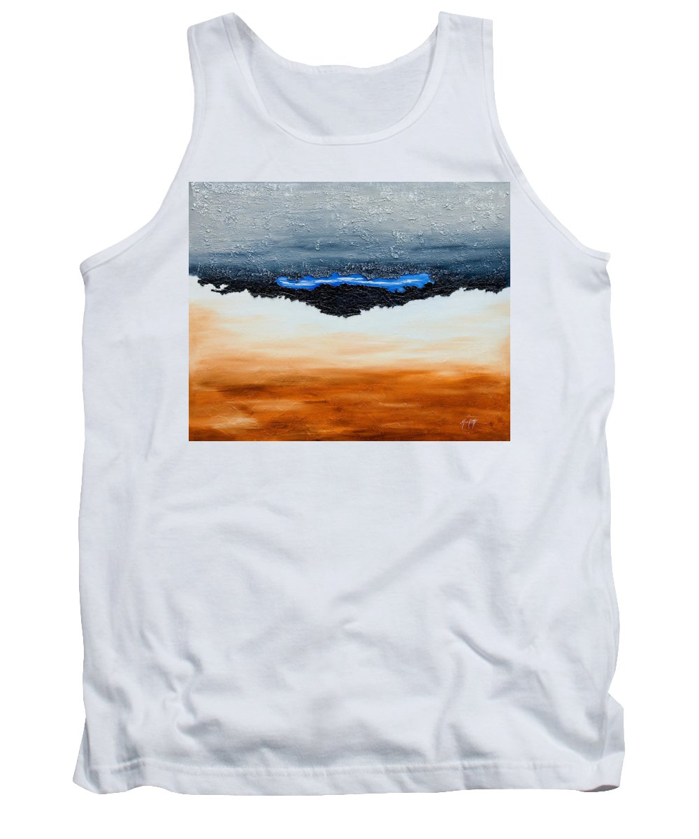Art Tank Top featuring the mixed media Blue Sky by Mauro Celotti