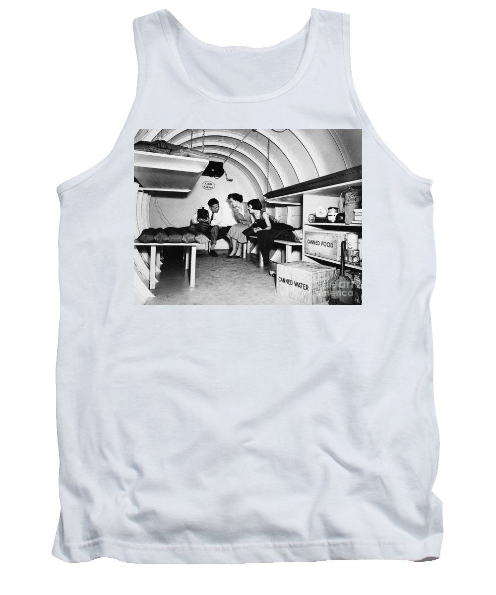 1955 Tank Top featuring the photograph Bomb Shelter, 1955 by Granger