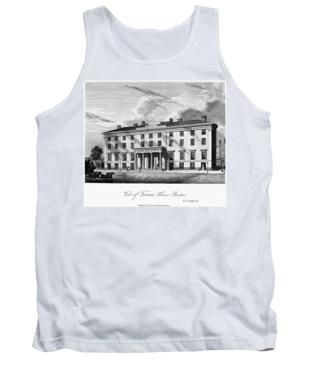 1835 Tank Top featuring the photograph Boston: Hotel, C1835 by Granger