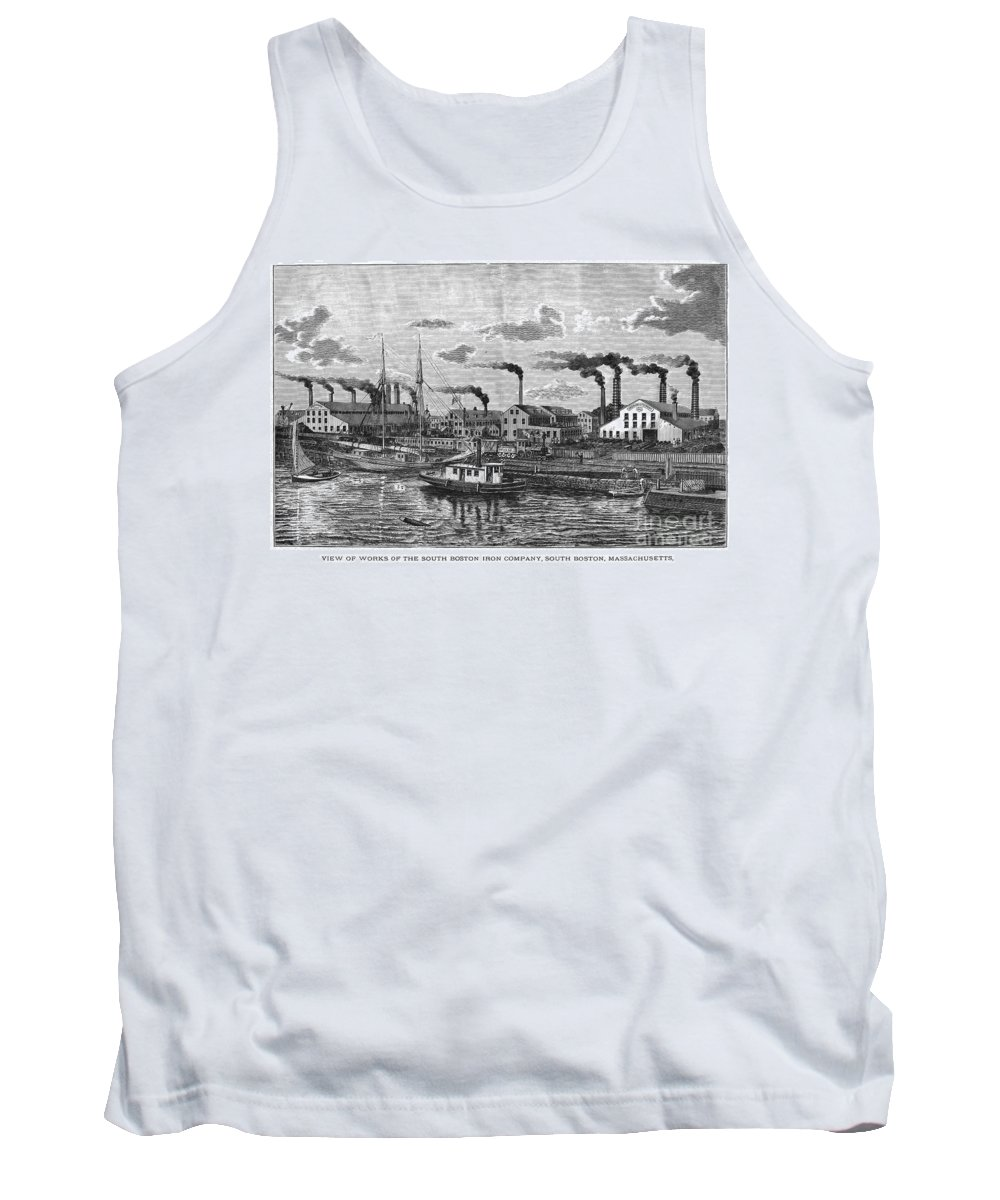 1876 Tank Top featuring the photograph Boston: Iron Foundry, 1876 by Granger
