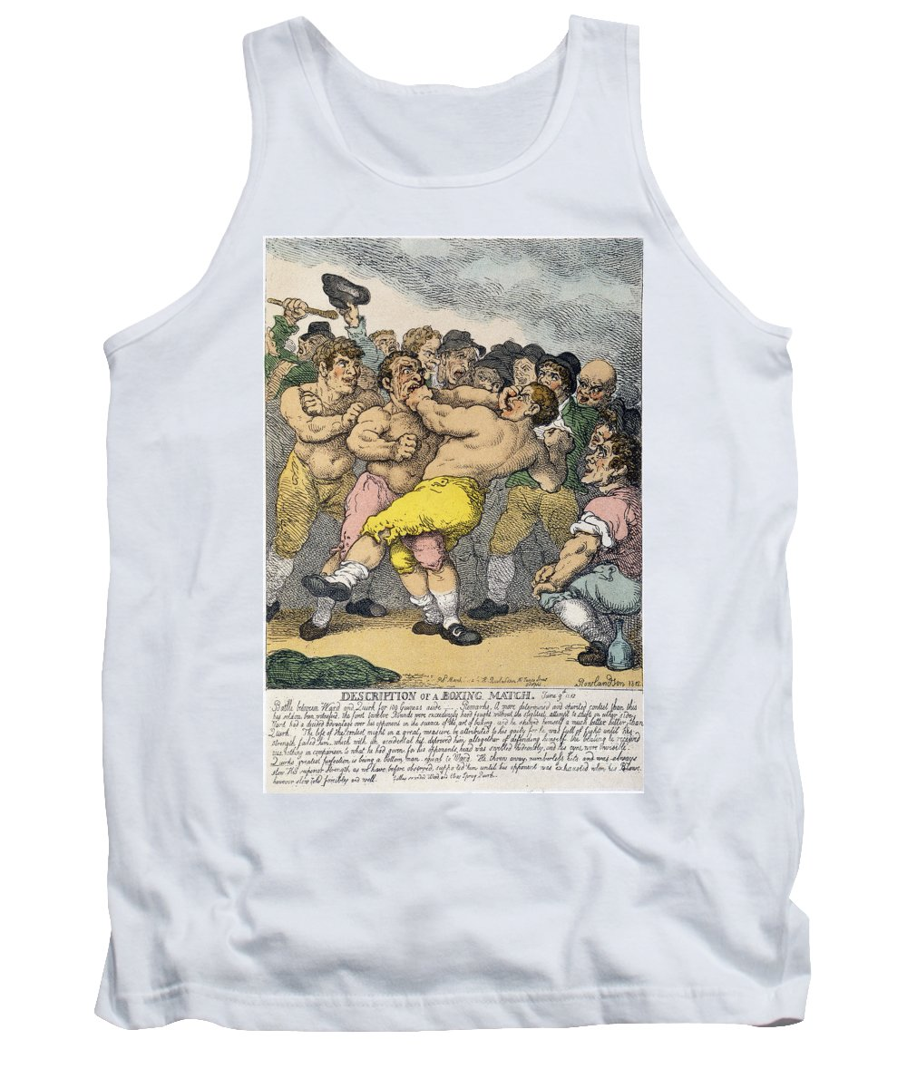 1812 Tank Top featuring the photograph Boxing Match, 1812 by Granger