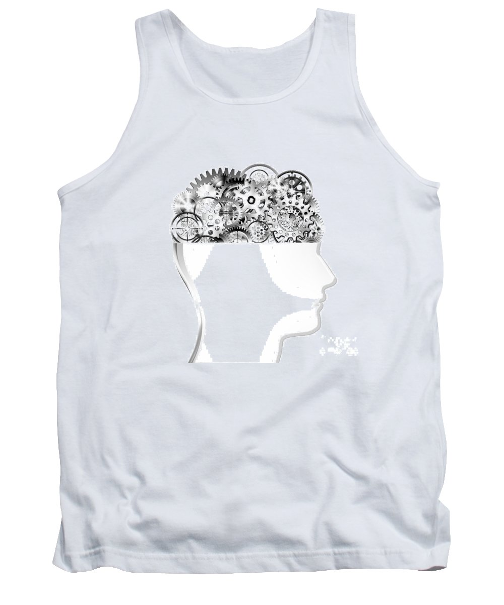 Art Tank Top featuring the photograph Brain Design By Cogs And Gears by Setsiri Silapasuwanchai