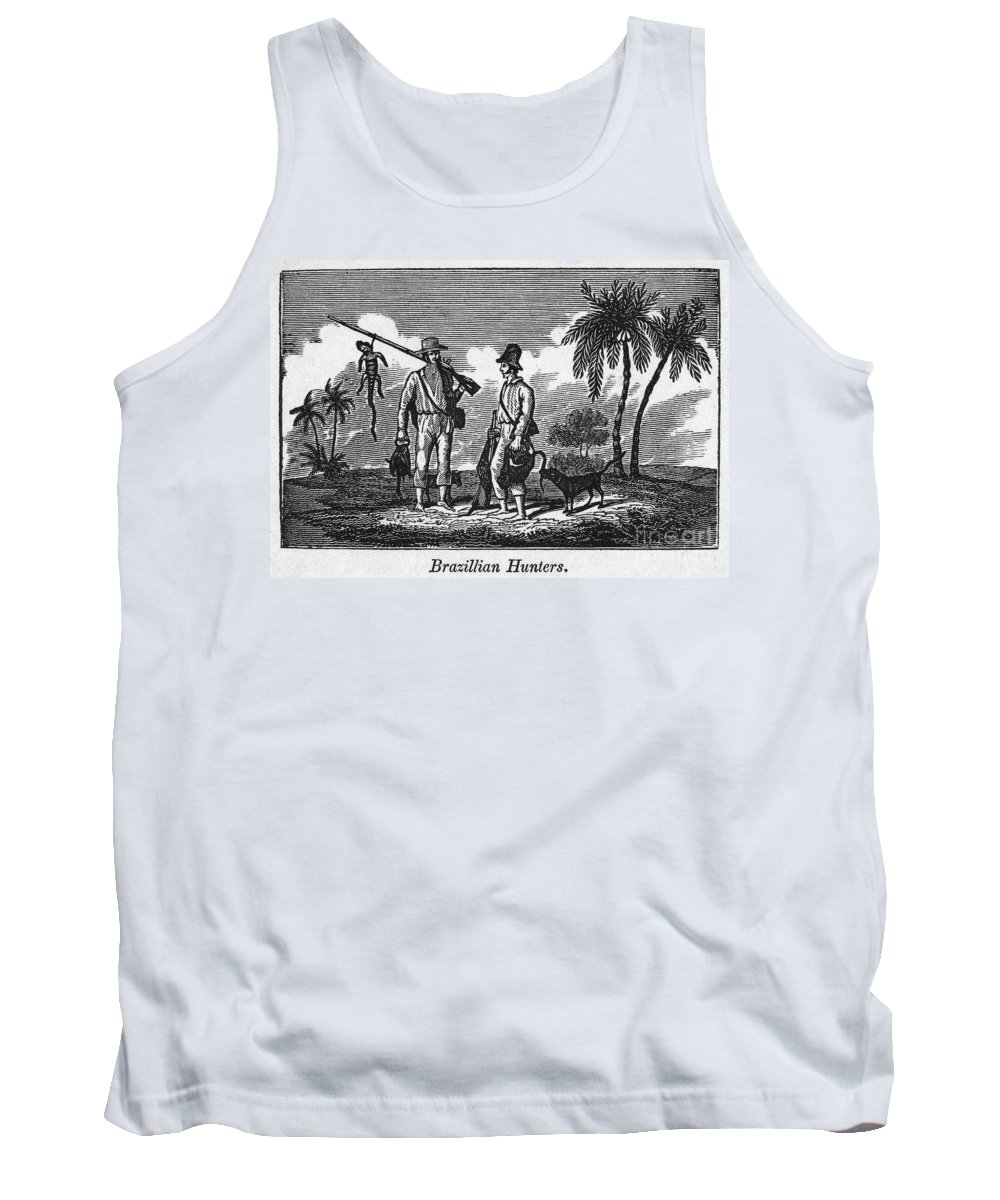 1820 Tank Top featuring the photograph Brazil: Hunters, C1820 by Granger