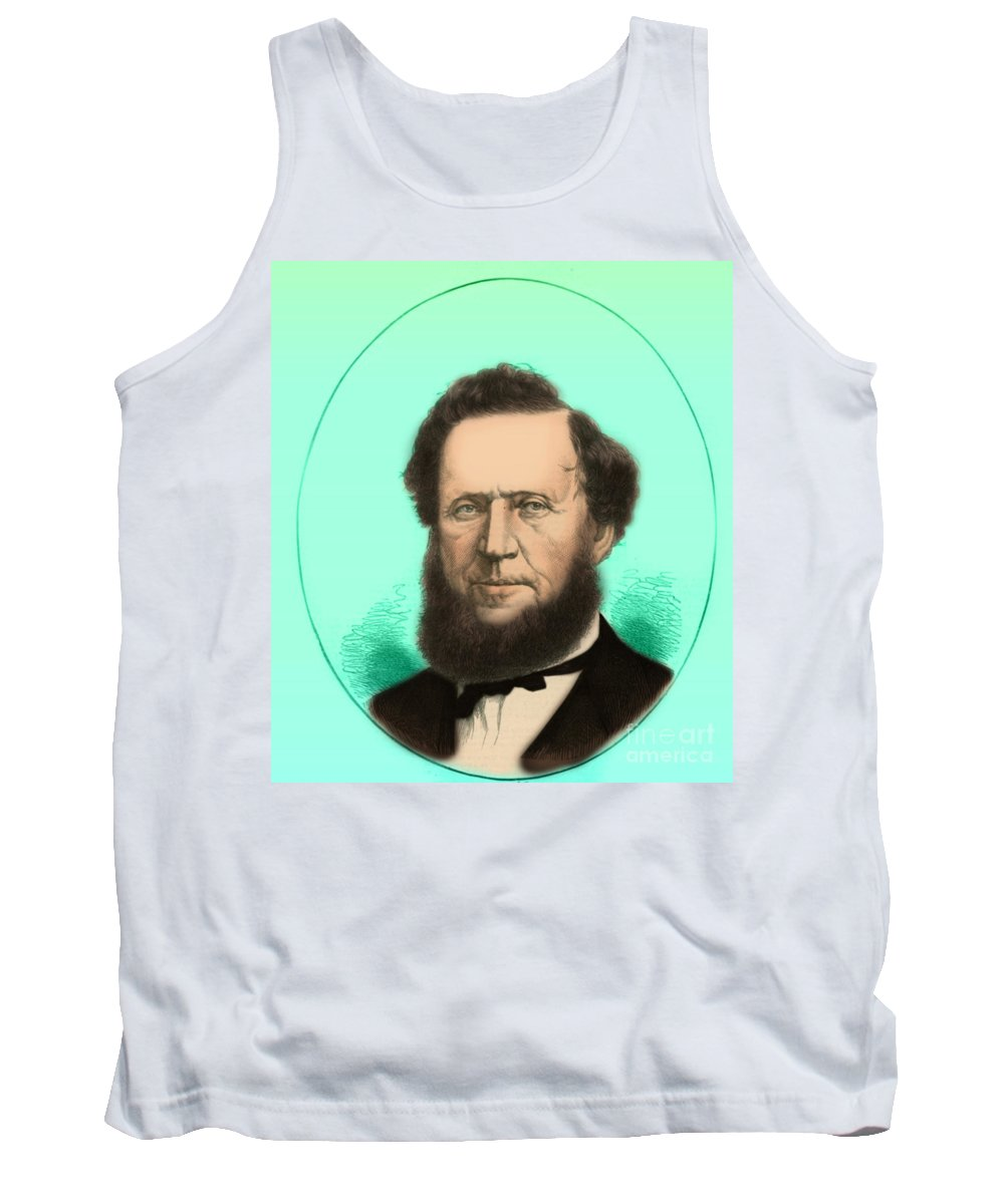 Illustration Tank Top featuring the photograph Brigham Young by Photo Researchers