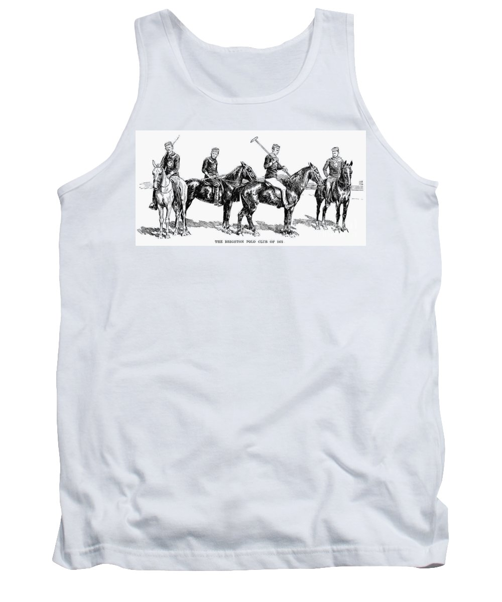 1877 Tank Top featuring the photograph Brighton Polo Club, 1877 by Granger