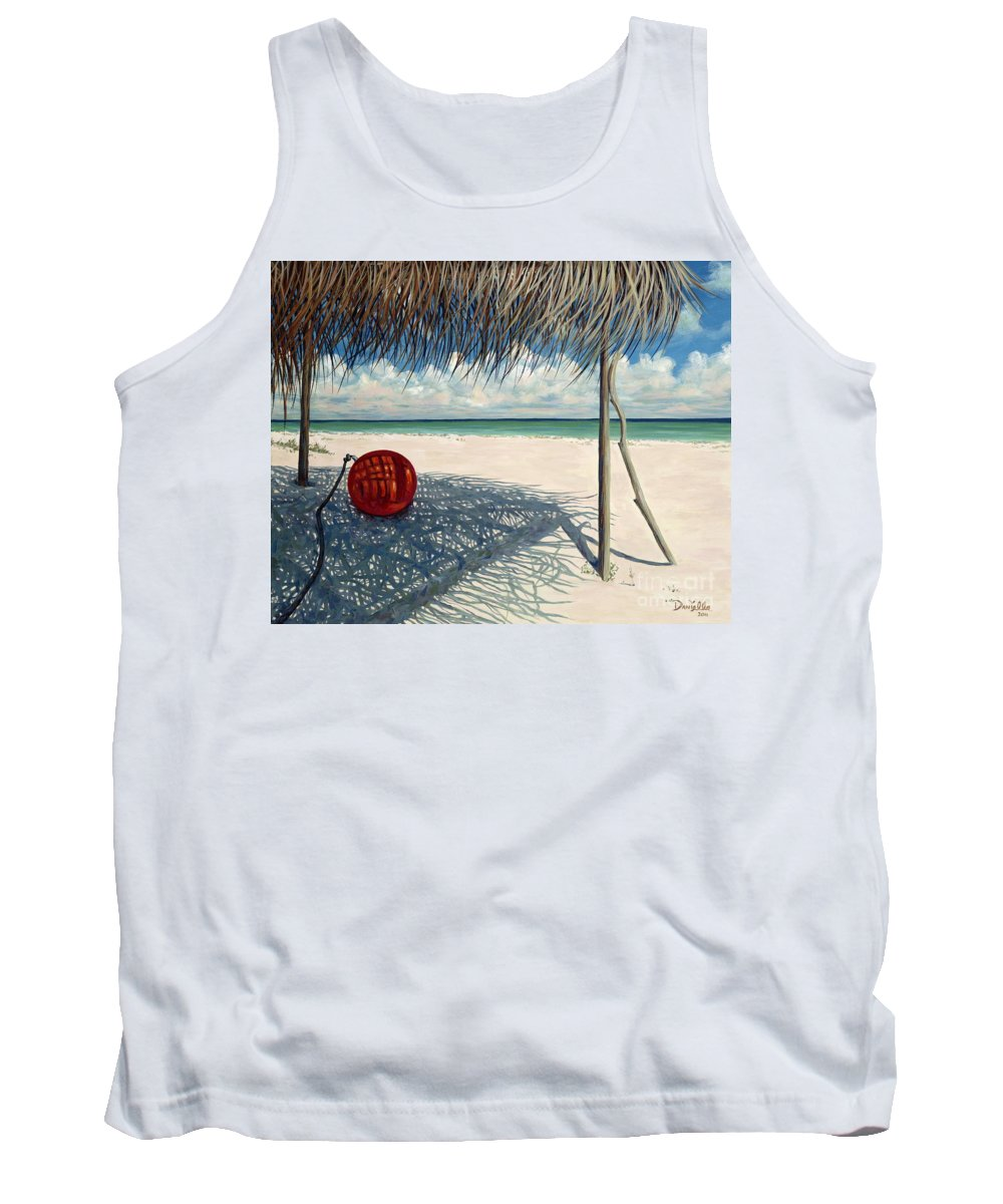 Harbour Island Tank Top featuring the painting Briland Buoy by Danielle Perry
