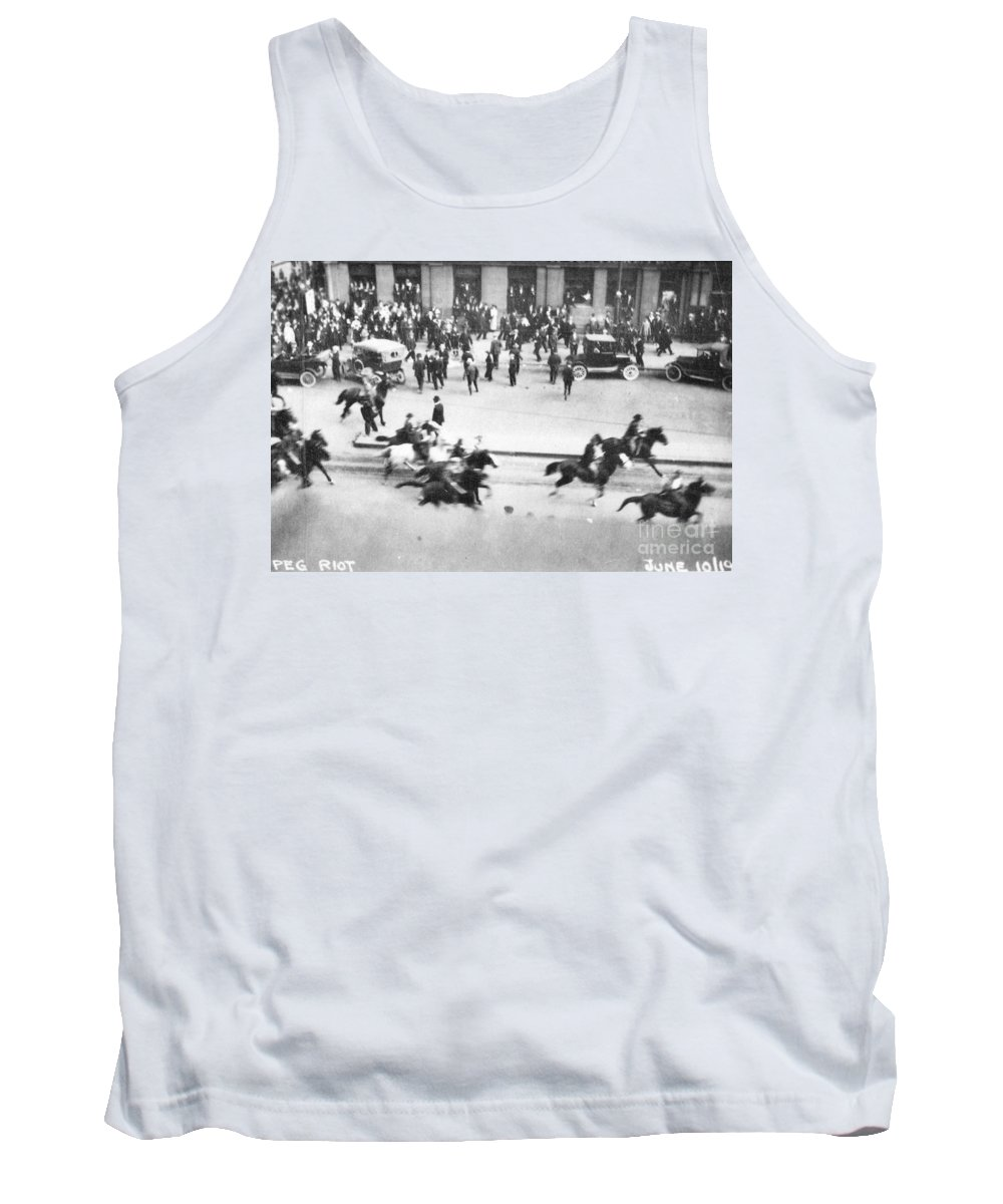 1919 Tank Top featuring the photograph Canada: Mounted Police, 1919 by Granger