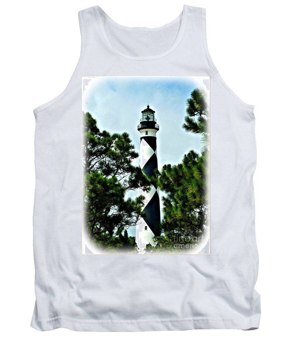 Cape Lookout Lighthouse Tank Top featuring the photograph Cape Lookout by Tommy Anderson