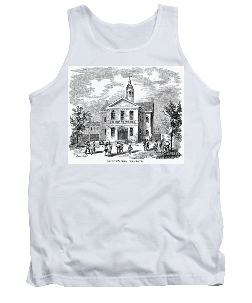 1855 Tank Top featuring the photograph Carpenters Hall, 1855 by Granger