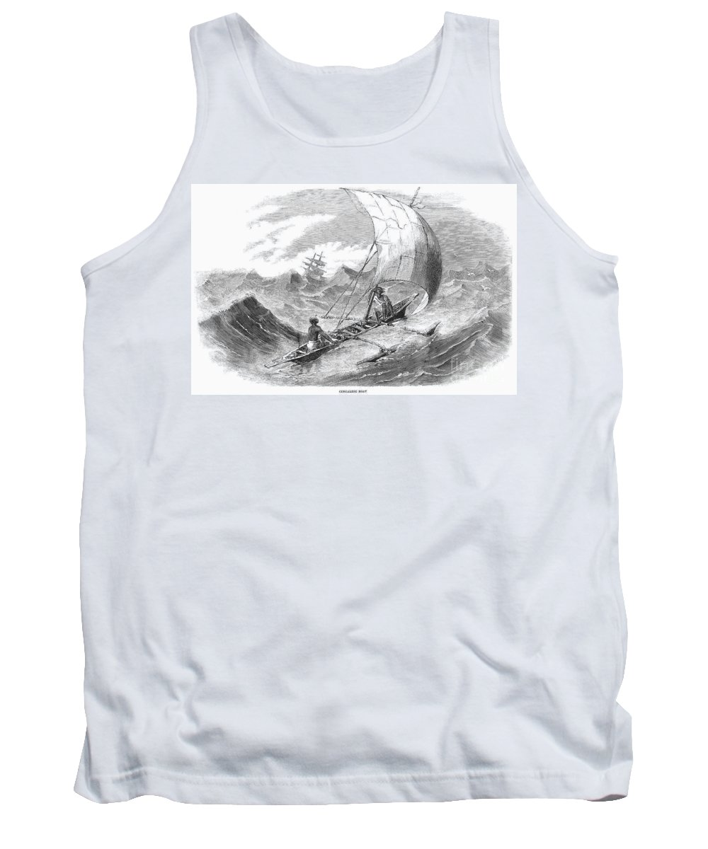 1860 Tank Top featuring the photograph Ceylon: Outrigger, 1860 by Granger