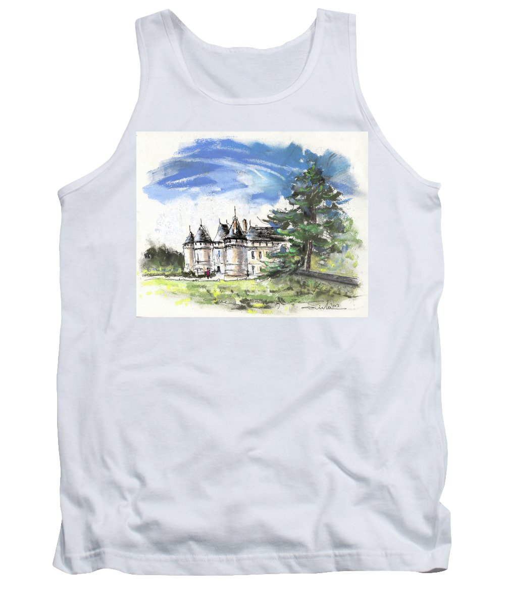 France Tank Top featuring the painting Chateau De Chaumont In France by Miki De Goodaboom
