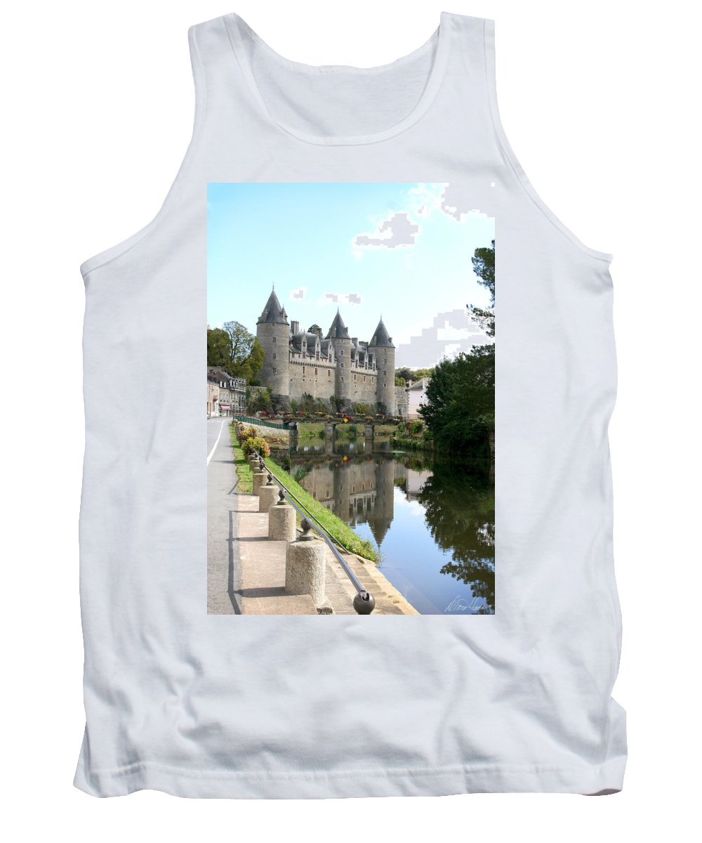 France Tank Top featuring the photograph Chateau De Josselin by Diana Haronis