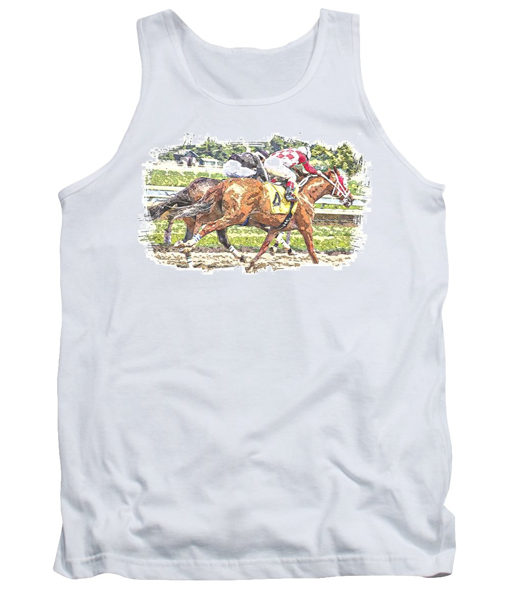 Horse Race Racing Abstract Jockeys Tank Top featuring the photograph Checkers by Alice Gipson