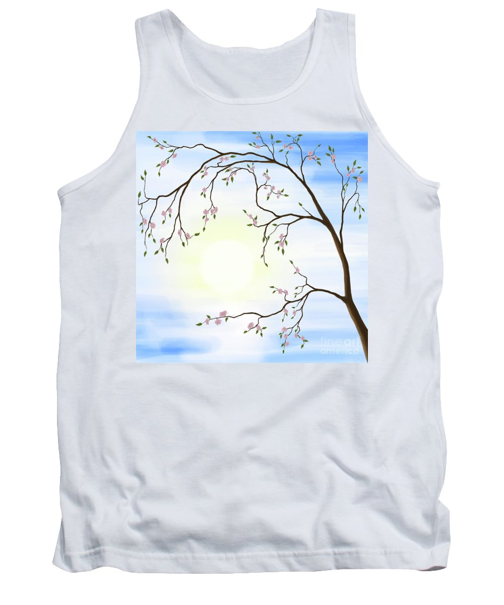 Cherry Blossom Tank Top featuring the photograph Cherry Blossom by Oleksiy Maksymenko