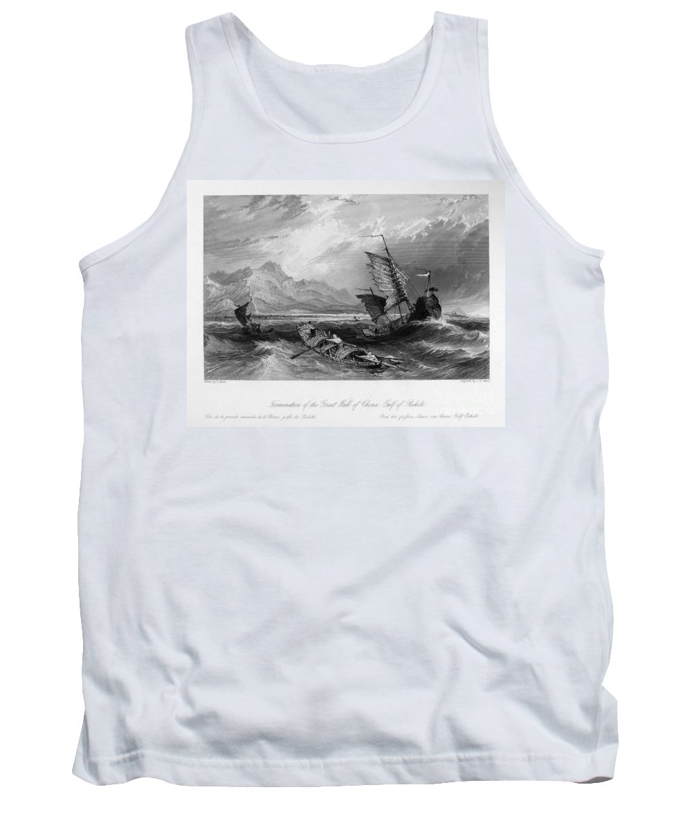 1843 Tank Top featuring the photograph China: Gulf Of Bohai, 1843 by Granger