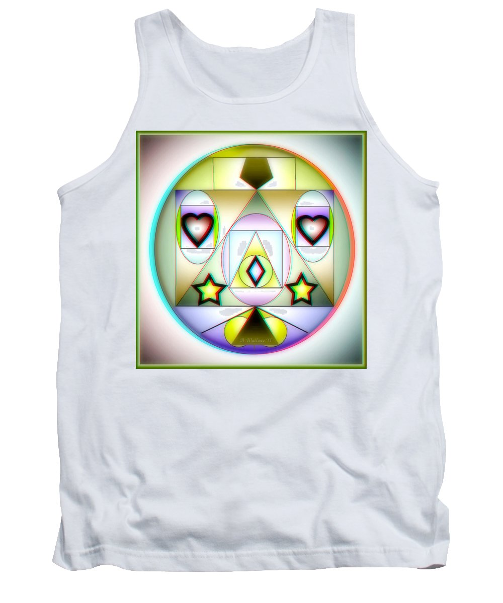 Brian Wallace Tank Top featuring the digital art Christmas Tree - Red And Cyan 3d Glasses Required by Brian Wallace