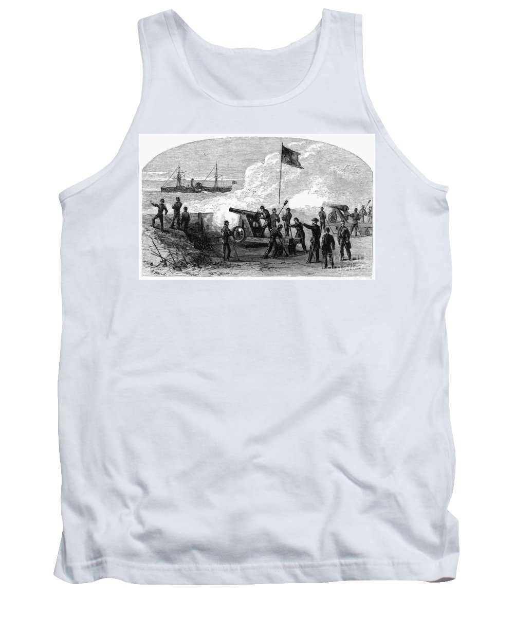 19th Century Tank Top featuring the photograph Civil War Battery by Granger