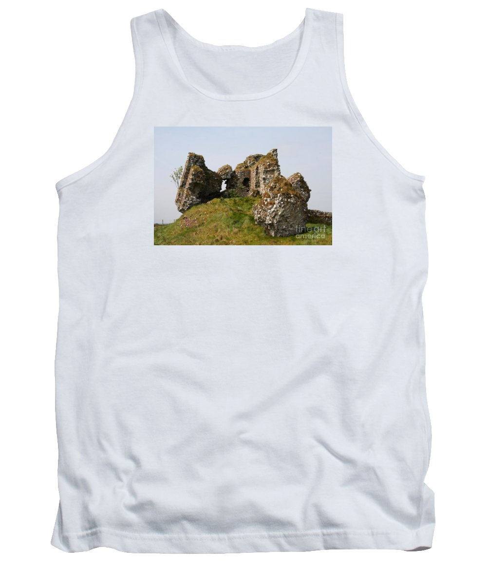 Clonmacnoise Castle Tank Top featuring the photograph Clonmacnoise Castle Ruin - Ireland by Christiane Schulze Art And Photography