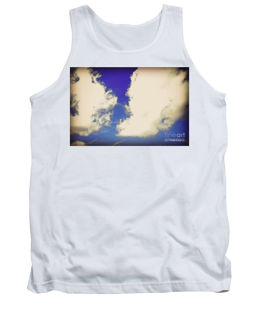 Clouds Tank Top featuring the photograph Clouds-10 by Paulette B Wright