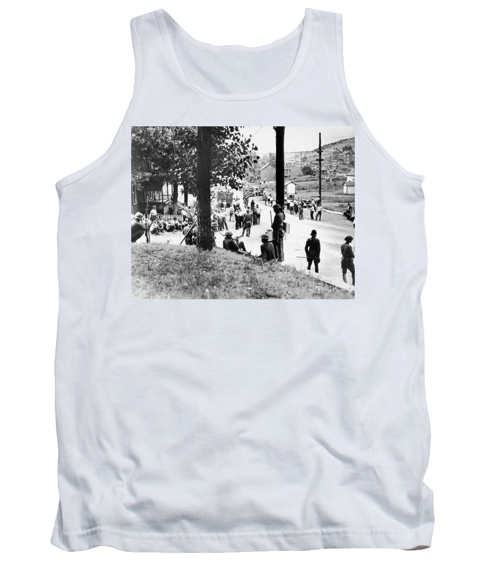 1933 Tank Top featuring the photograph Coal Strike, 1933 by Granger