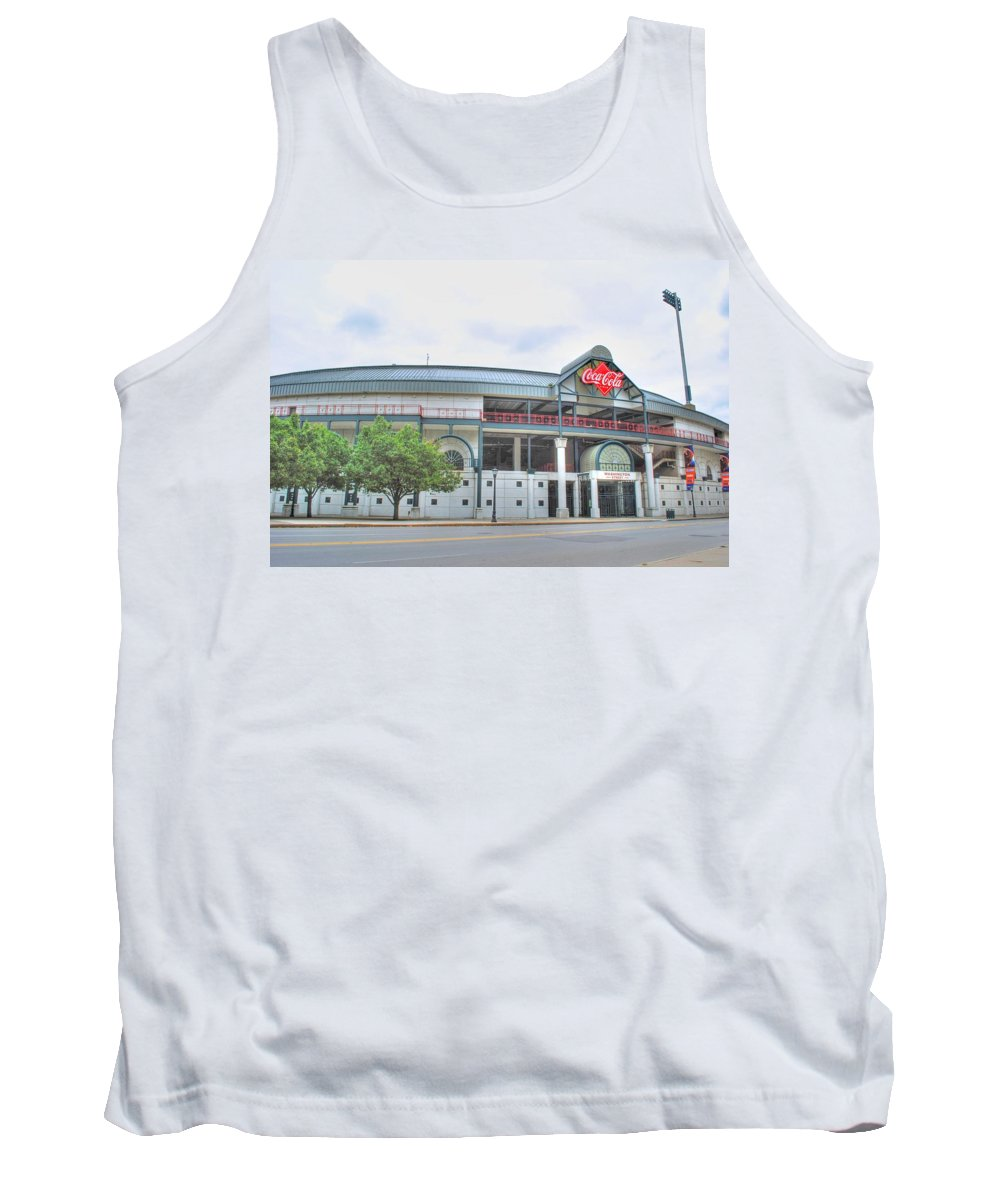 Tank Top featuring the photograph Coca Cola Field by Michael Frank Jr