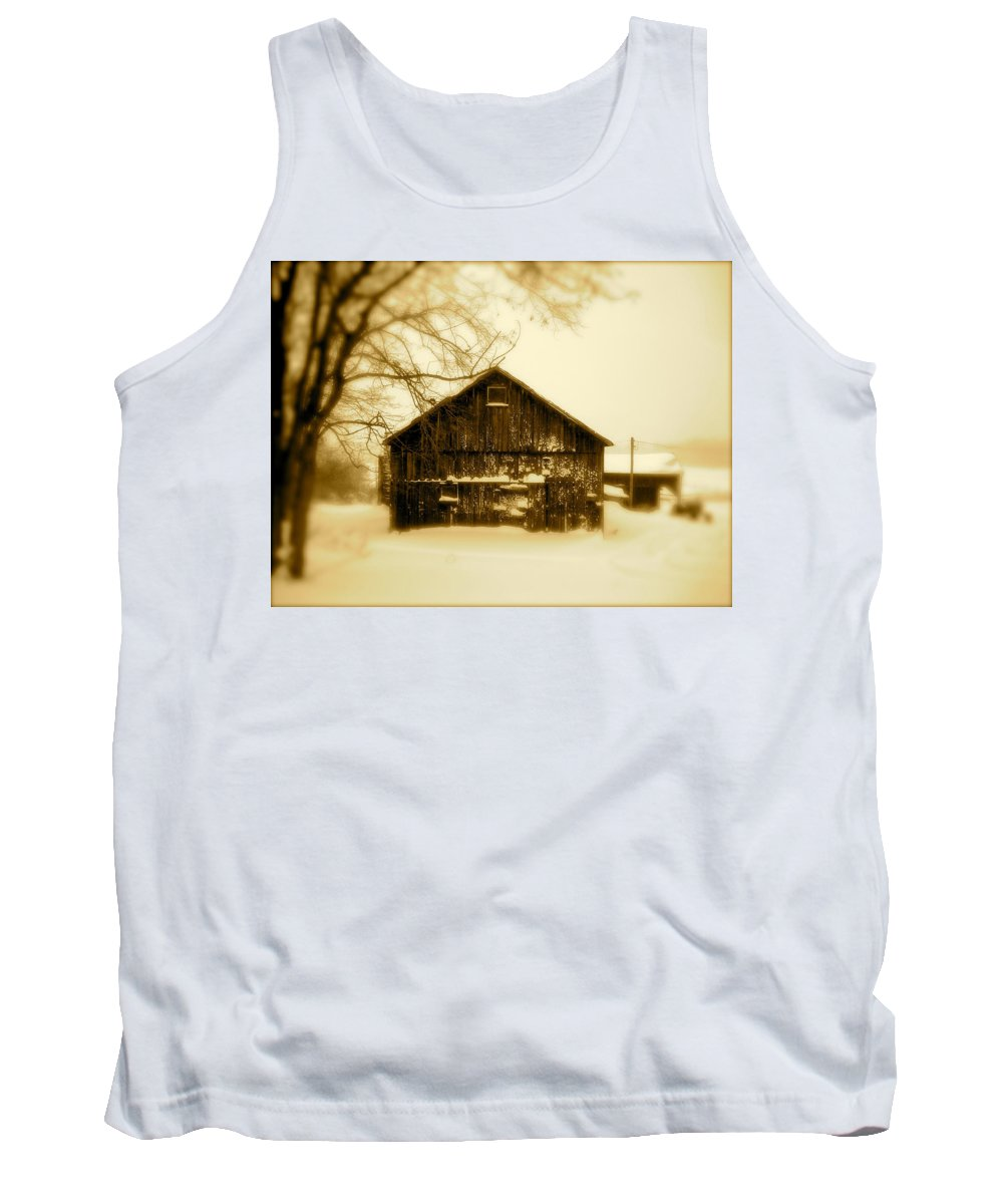 Landscape Tank Top featuring the photograph Cold On The Ridge by Arthur Barnes