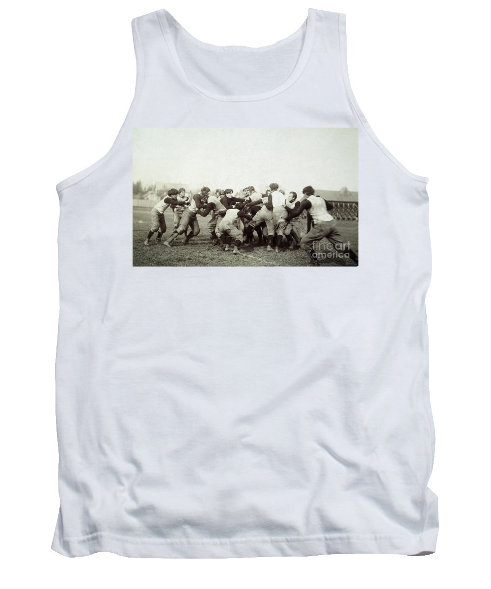 1905 Tank Top featuring the photograph College Football Game, 1905 by Granger