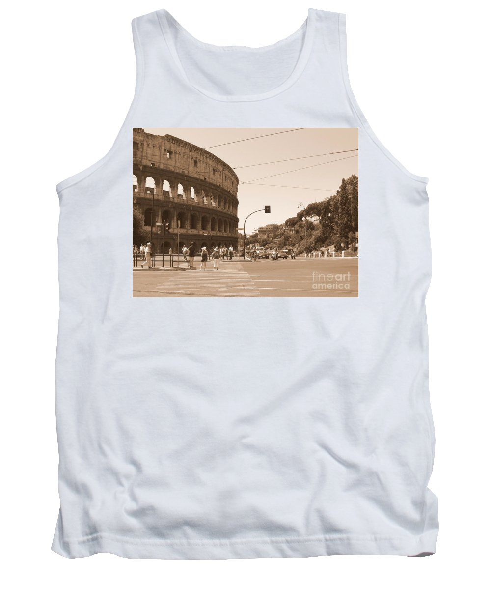 Colosseum Tank Top featuring the photograph Colosseum In Sepia by Laurel Best