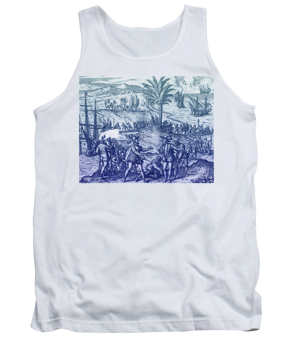 Christopher Columbus Tank Top featuring the photograph Columbus Arrested by Photo Researchers