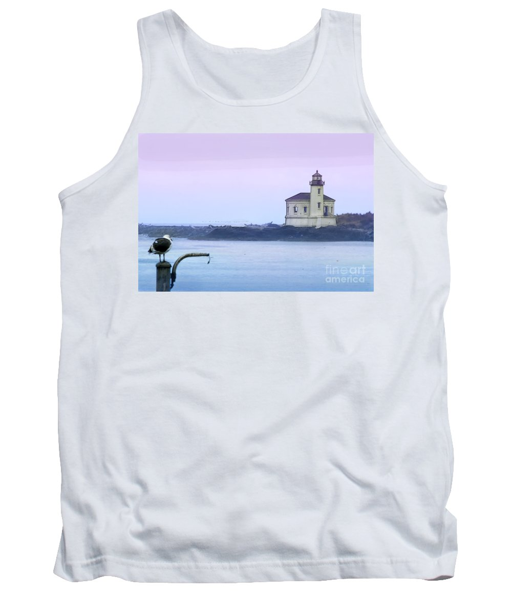Lighthouse Tank Top featuring the photograph Coquille River Lighthouse by Betty LaRue
