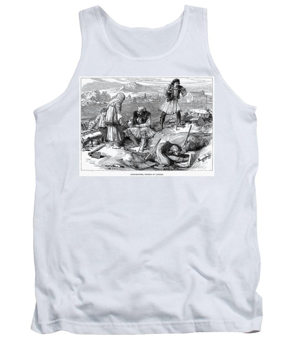 1877 Tank Top featuring the photograph Corinth: Grave Robbers by Granger