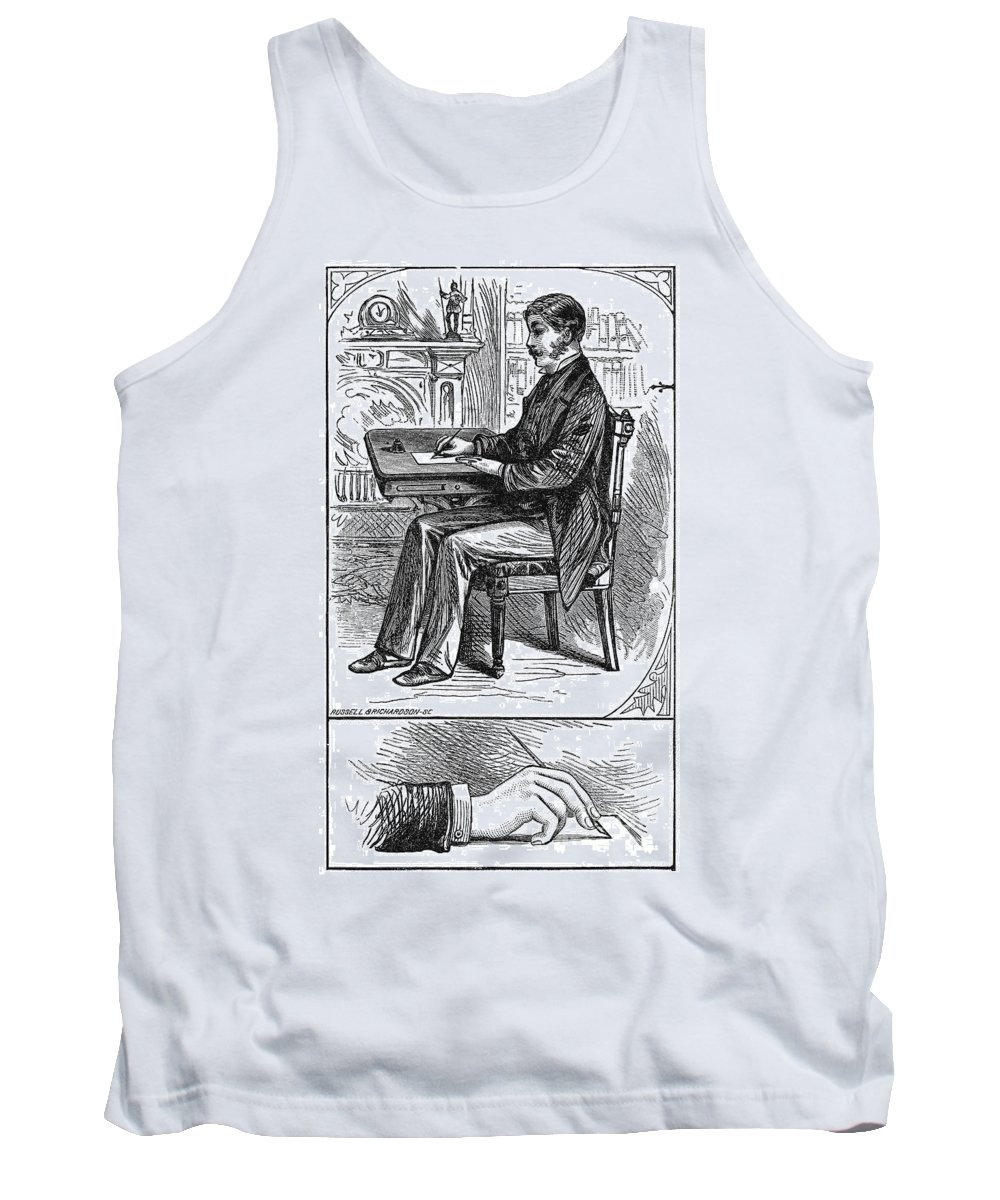 1880 Tank Top featuring the photograph Correct Writing Position by Granger