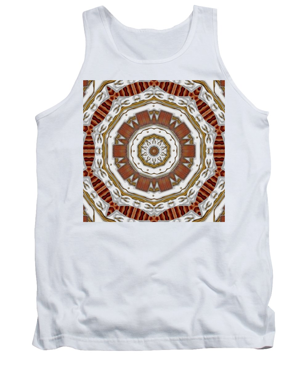 Abstract Tank Top featuring the mixed media Creame Cake Abstracte by Pepita Selles