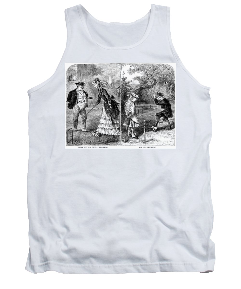 1873 Tank Top featuring the photograph Croquet, 1873 by Granger
