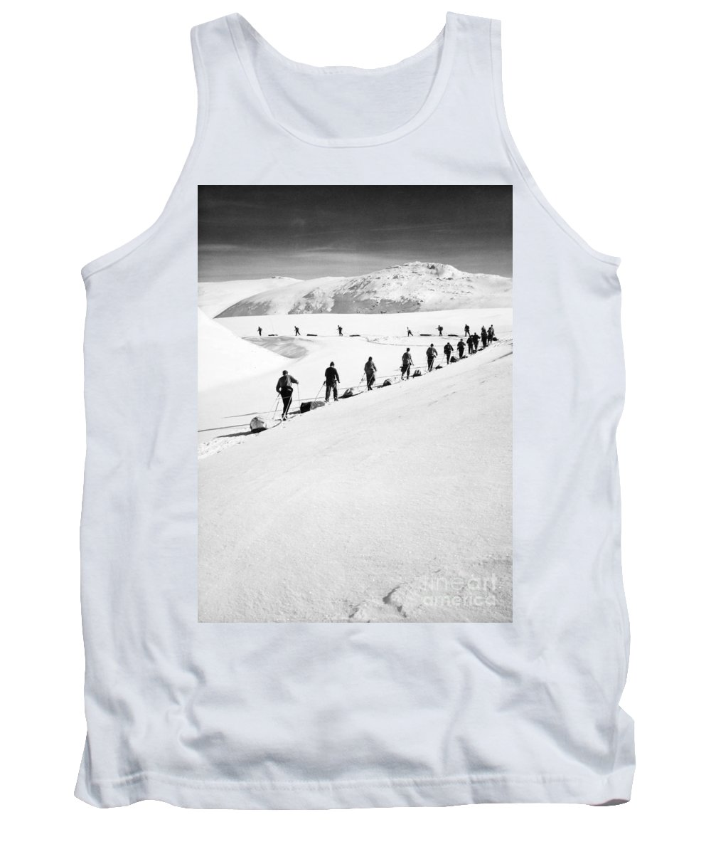 1960 Tank Top featuring the photograph Cross Country Skiing by Granger