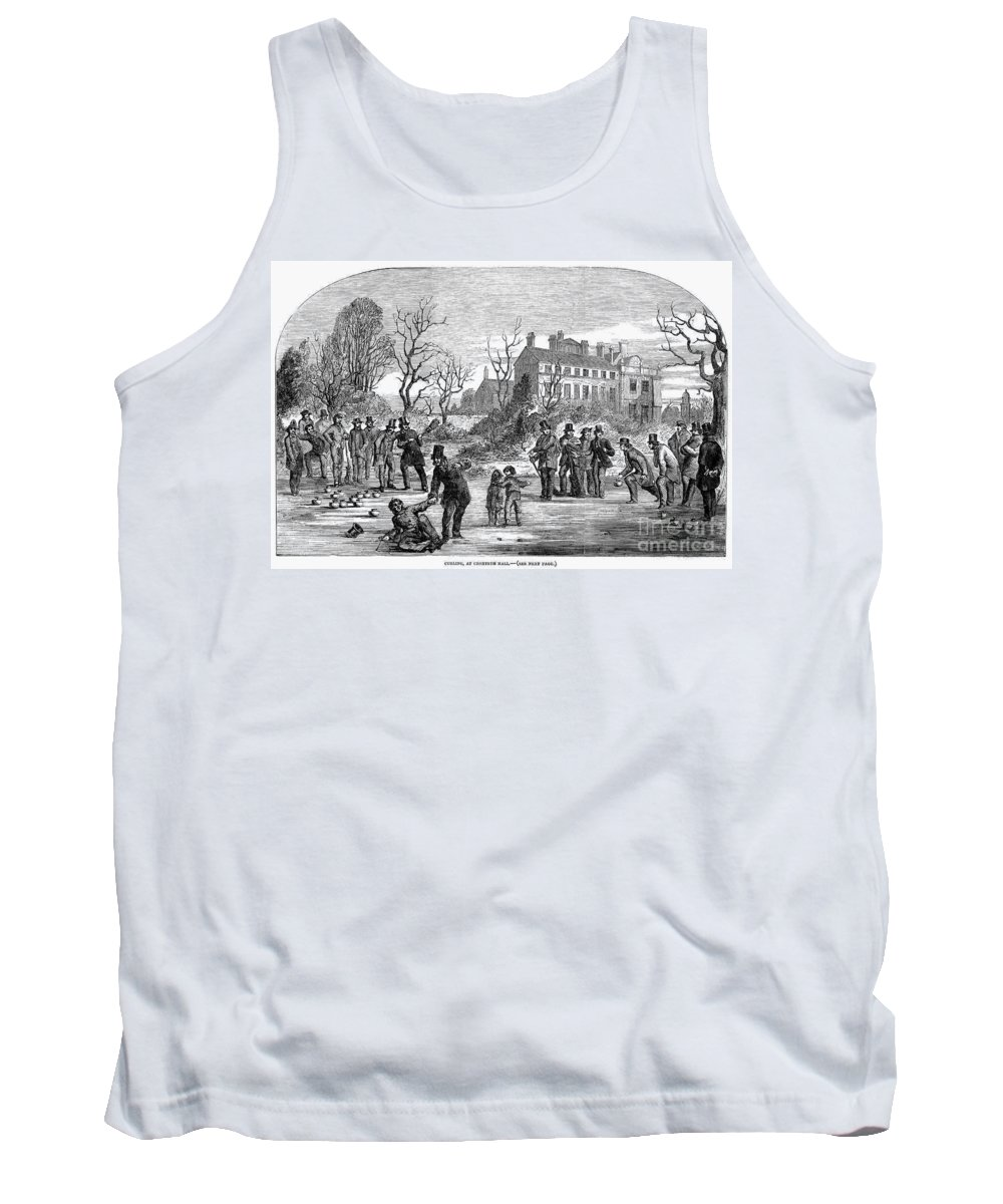 1853 Tank Top featuring the photograph Curling, 1853 by Granger