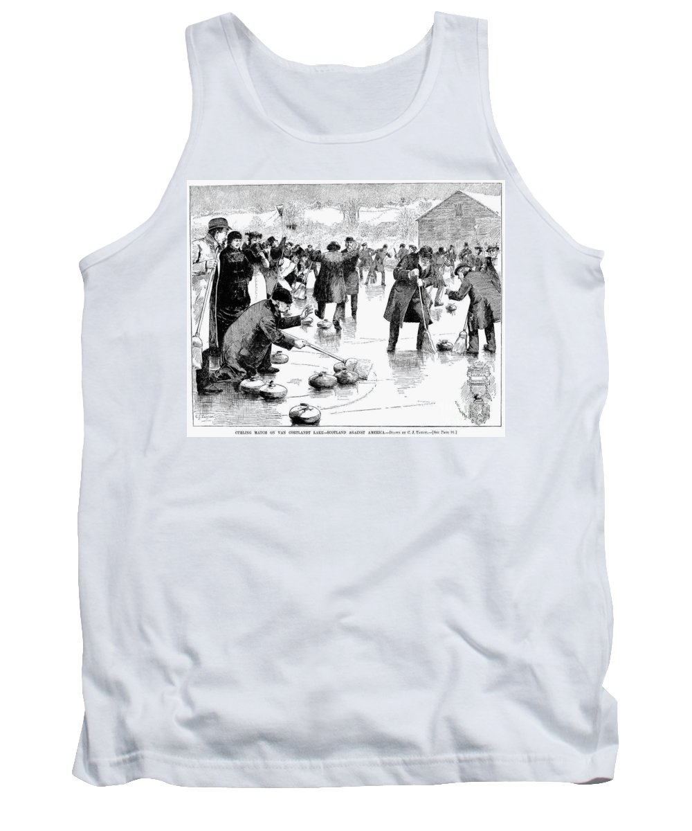 1884 Tank Top featuring the photograph Curling, 1884 by Granger
