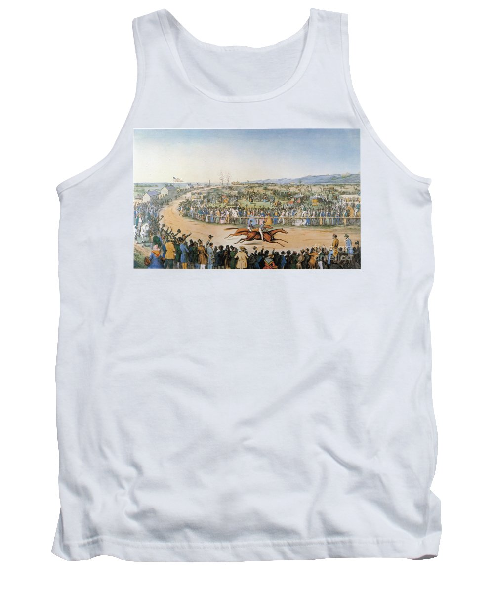 American Tank Top featuring the photograph Currier & Ives: Racing, 1845 by Granger