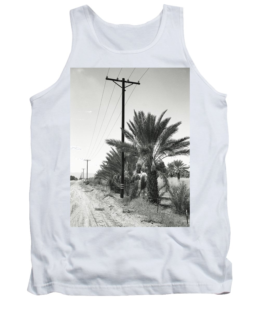 Date Palms Tank Top featuring the photograph Date Palms On A Country Road by Dominic Piperata