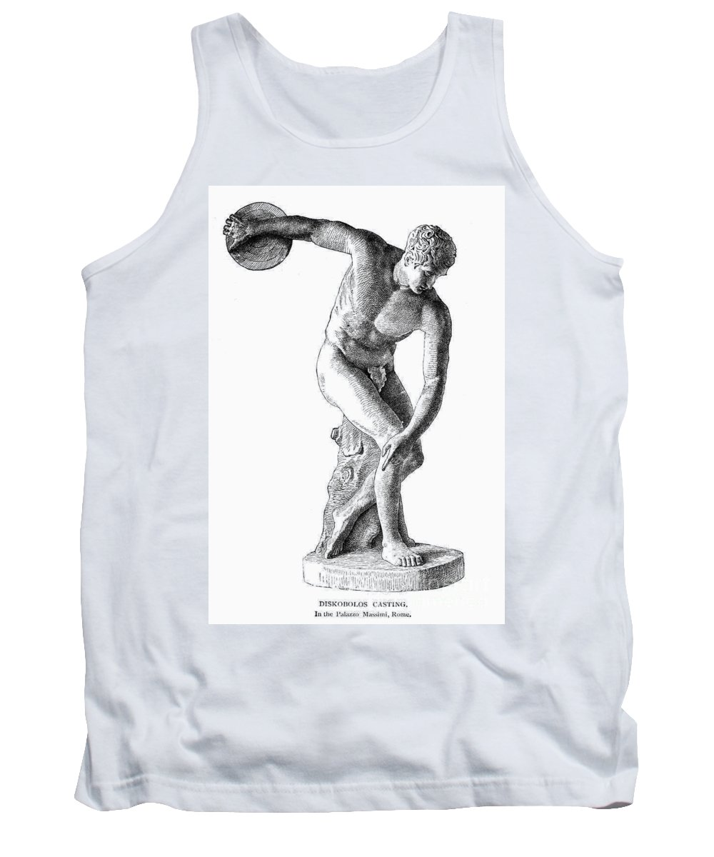 19th Century Tank Top featuring the photograph Discobolus Casting by Granger