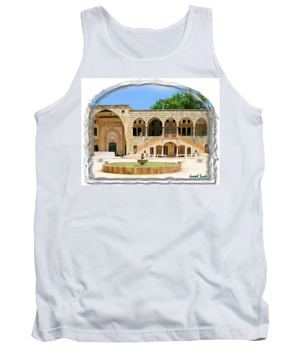 Palace Tank Top featuring the photograph Do-00522 Emir Bechir Palace by Digital Oil