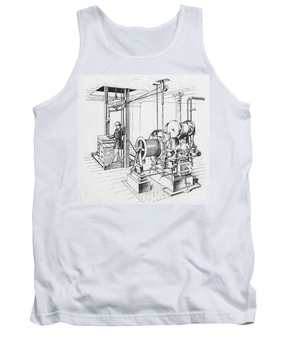 Historic Tank Top featuring the photograph Double Oscillating Steam Engine by Science Source