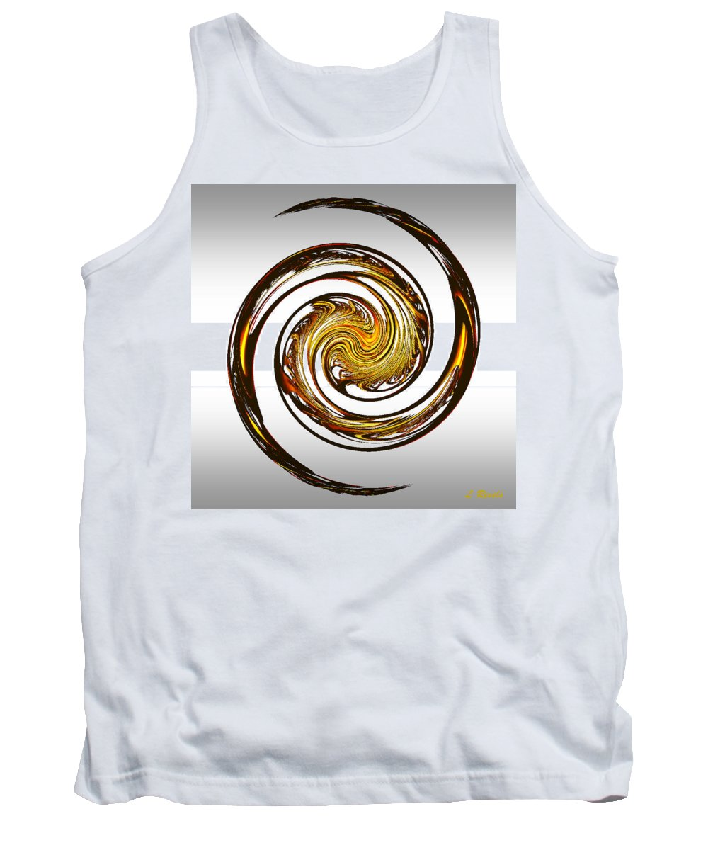 Fractal Tank Top featuring the digital art Dragon by Leslie Revels