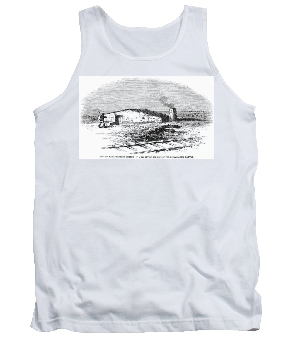 1891 Tank Top featuring the photograph Dugout Home, 1871 by Granger