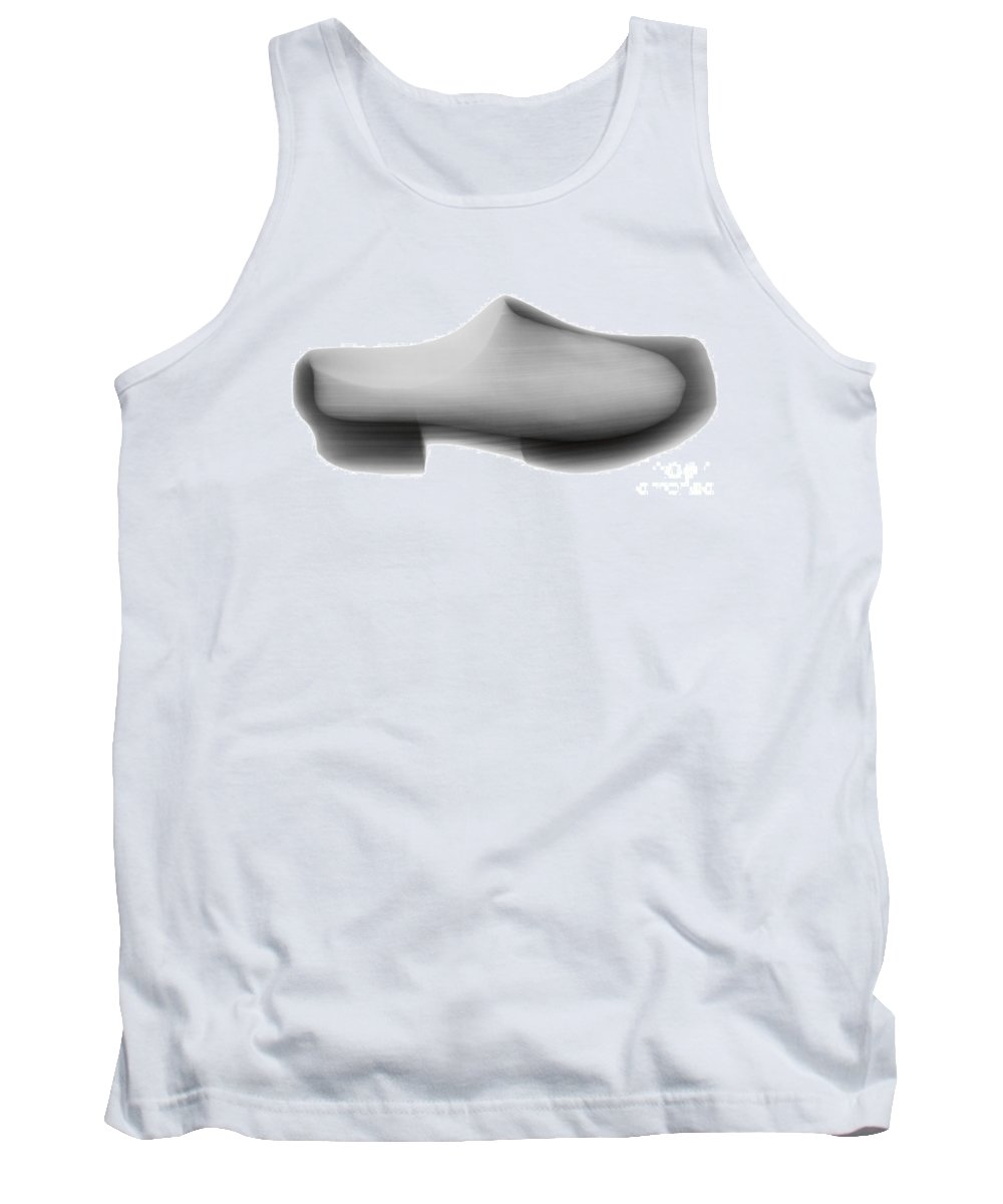 X-ray Tank Top featuring the photograph Dutch Wooden Shoe by Ted Kinsman