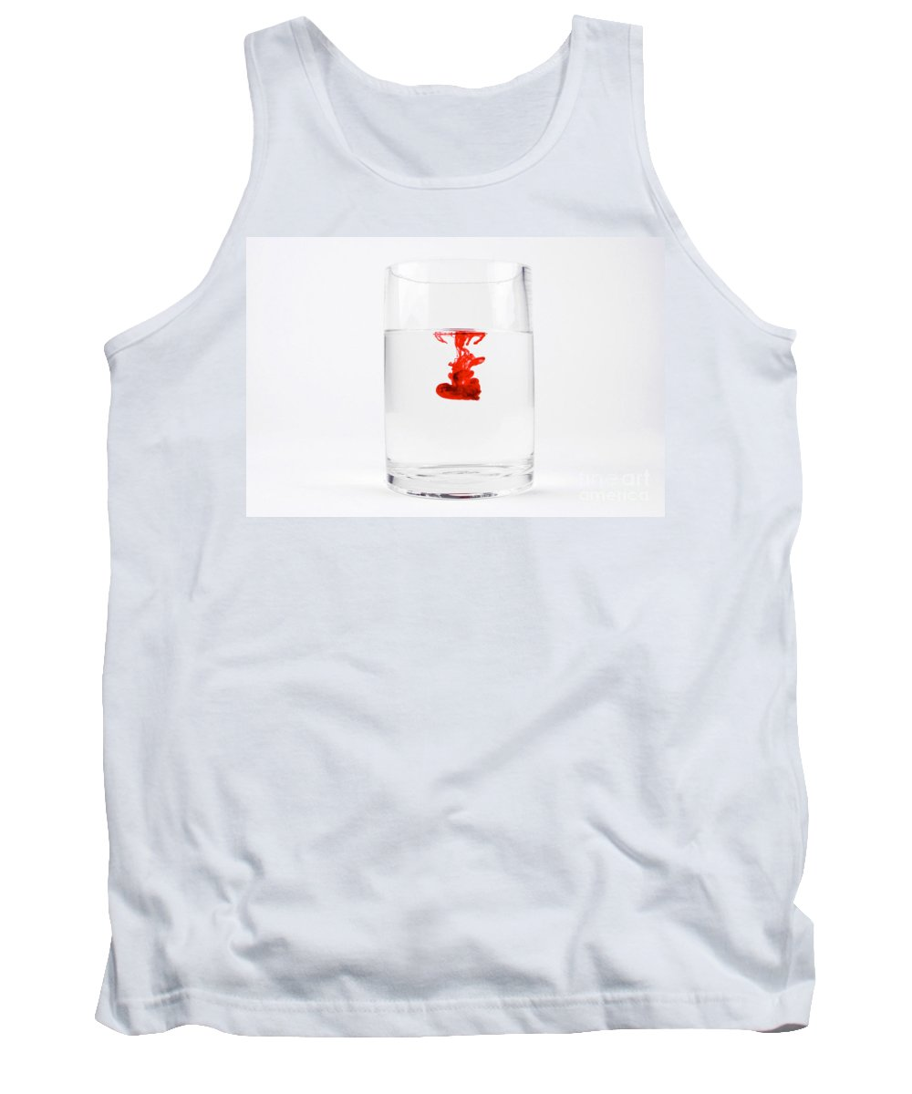 Red Tank Top featuring the photograph Dye In Water, 2 Of 13 by Photo Researchers, Inc.
